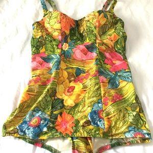 ba71e33d51f8 ... Vintage 1960s Rose Marie Reid Floral Swimsuit ...
